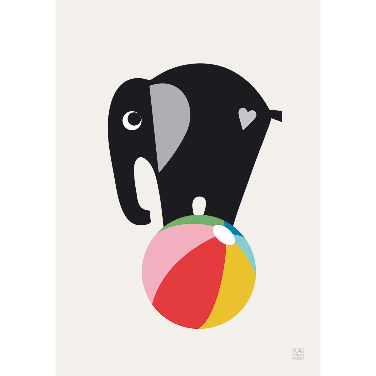 Image of   Kai Copenhagen plakat - Elefant