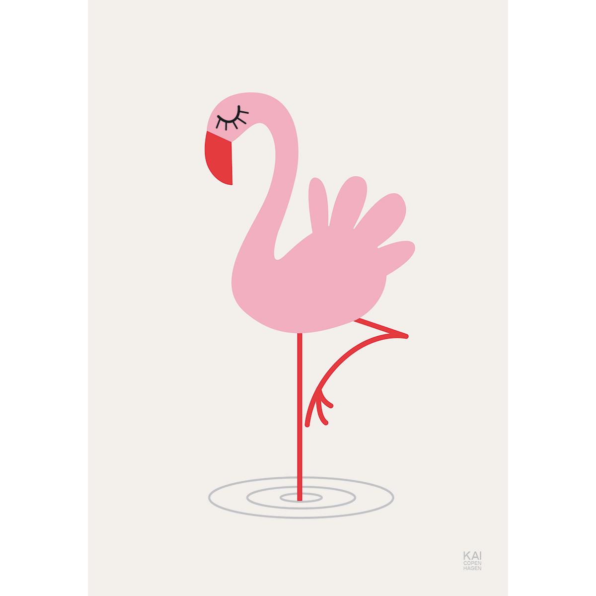 Image of   Kai Copenhagen plakat - Flamingo