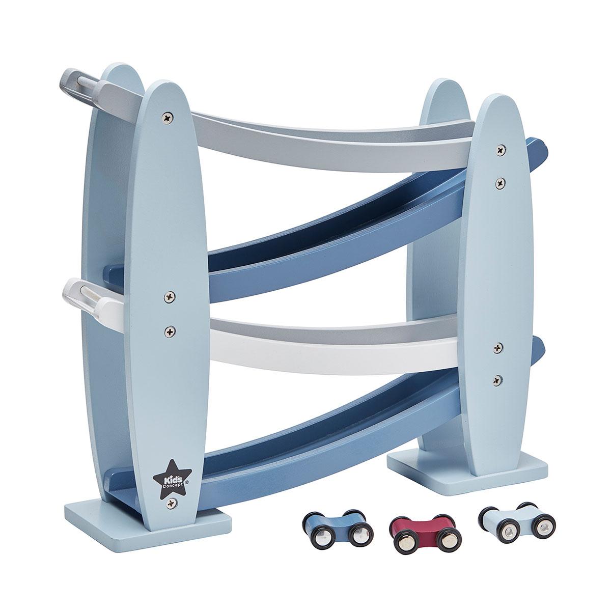 Billede af Kids Concept bilbane - Blå og grå