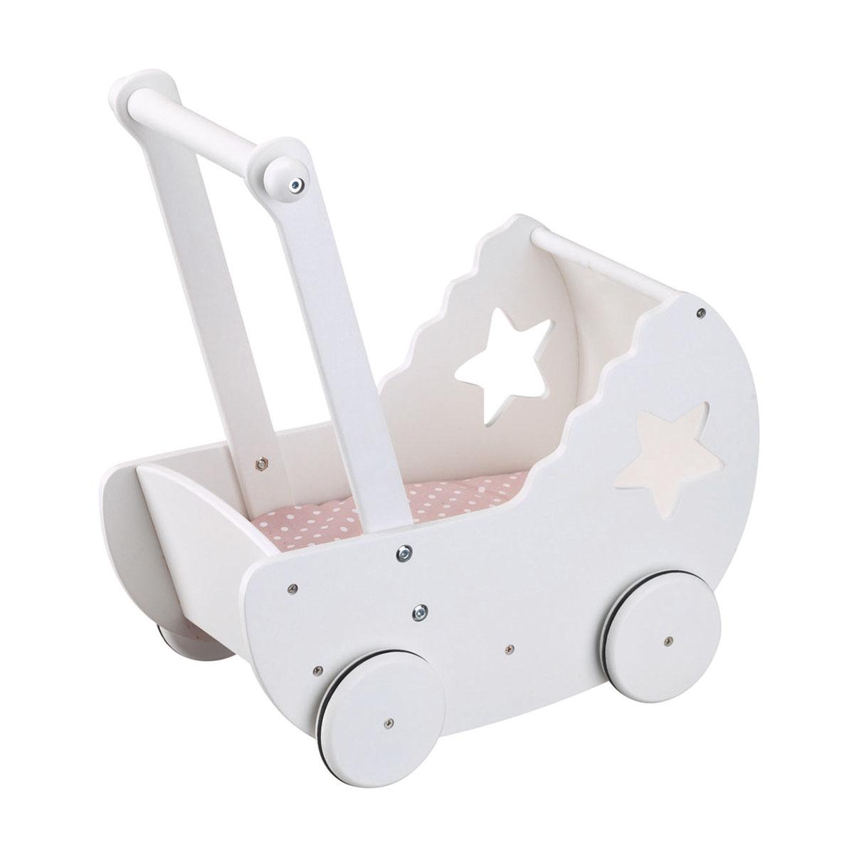Image of   Kids Concept dukkevogn i træ - Hvid