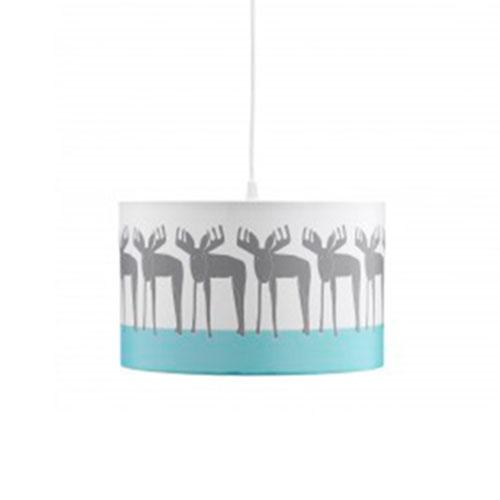 Billede af Kids Concept loftlampe - Edvin - Hvid med print