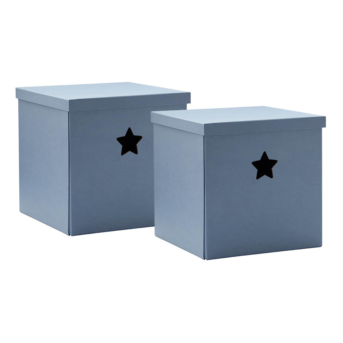 Image of   Kids Concept opbevaringskasser - Star - Blå - 2 stk.