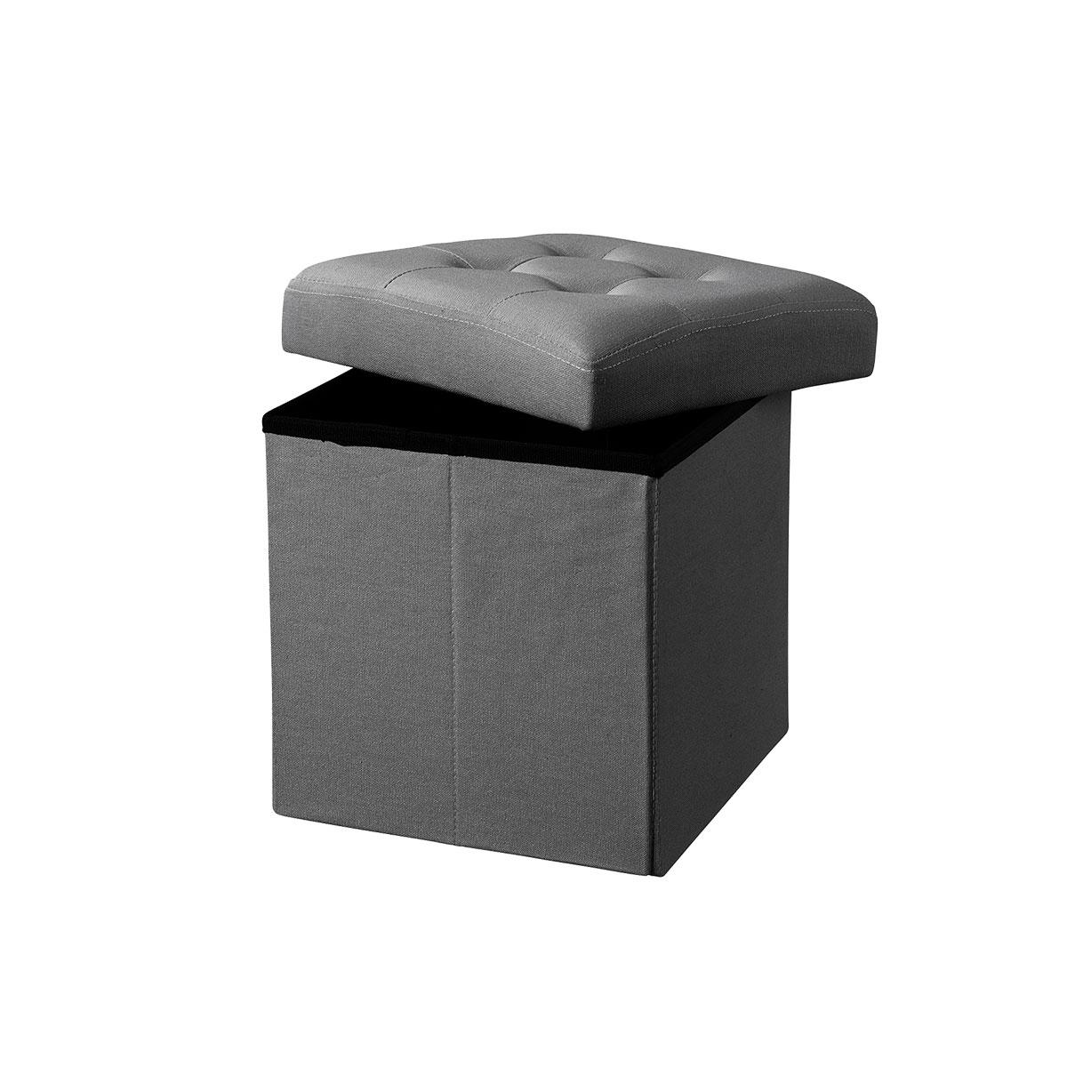 Billede af Kids Concept puf med opbevaring - Mørkegrå
