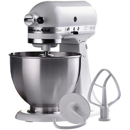 KitchenAid køkkenmaskine - Classic - Hvid Ikonisk røremaskine med 4,3-liters røreskål - Coop.dk