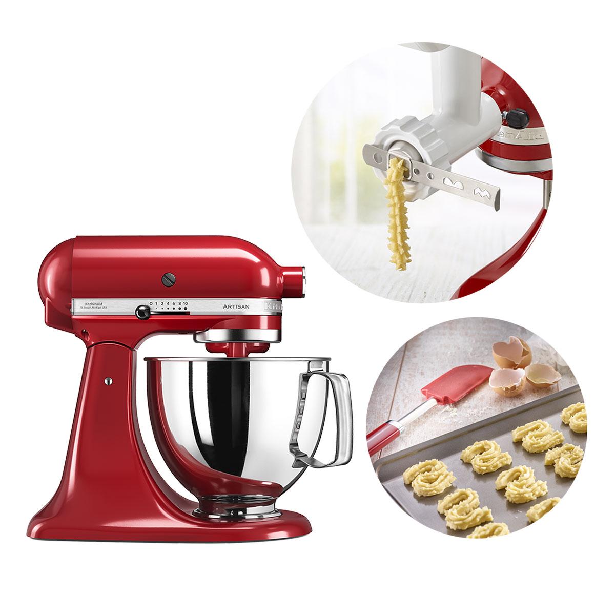 KitchenAid køkkenmaskine med bageudstyr - Artisan - Rød