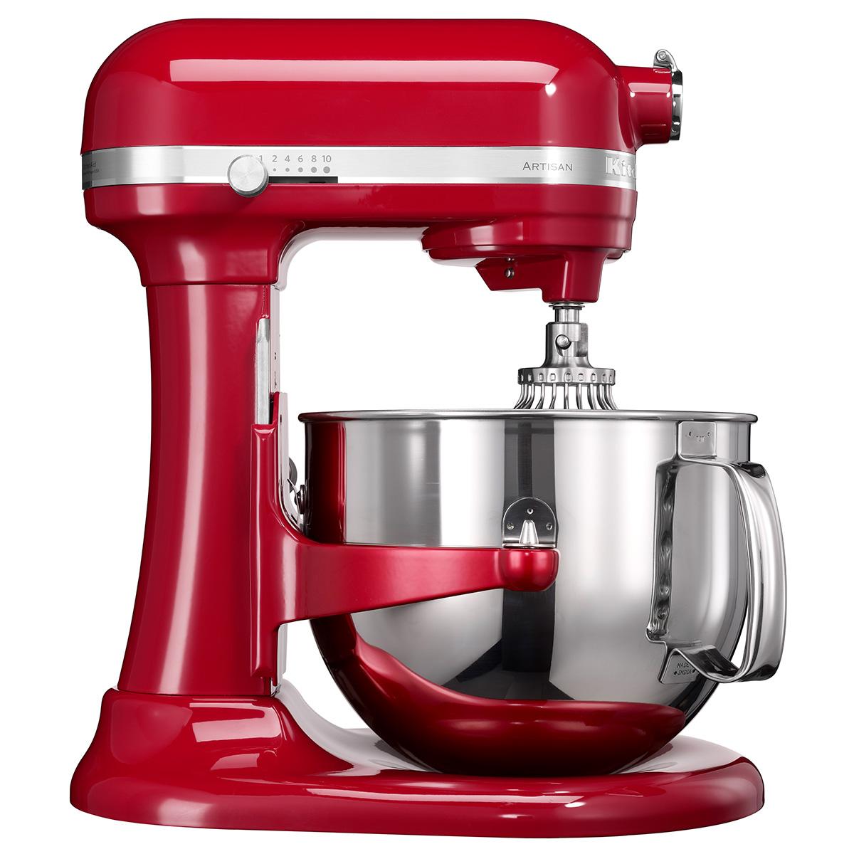 Kitchenaid køkkenmaskine med skålløft - Artisan - Rød