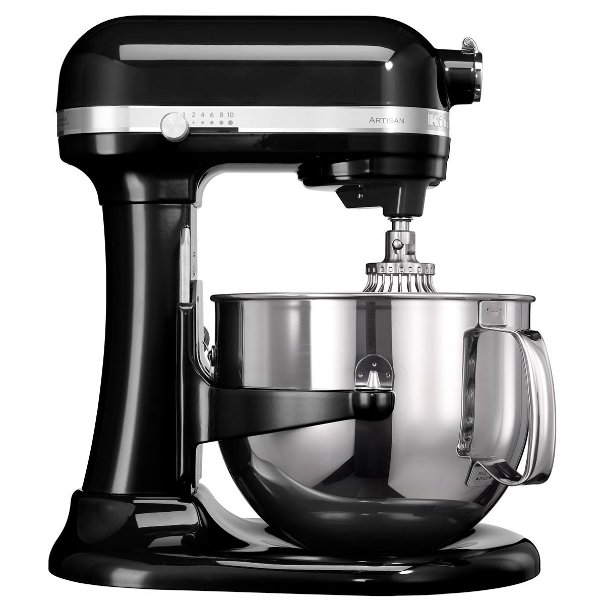 Kitchenaid køkkenmaskine med skålløft - Artisan - Sort