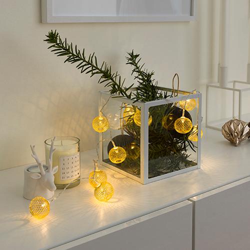 Billede af Konstsmide LED-lyskæde med 10 guldkulger