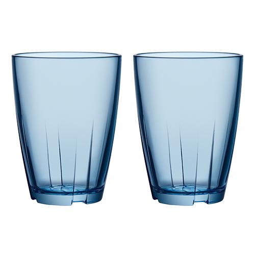 Image of   Bruk glas stort 2 stk blå