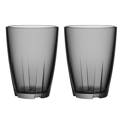 Image of   Bruk glas stort 2 stk grå