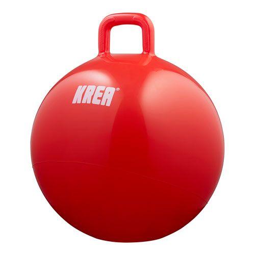 Krea hoppebold   rød   inkl. pumpe til motorisk træning og sjov ...