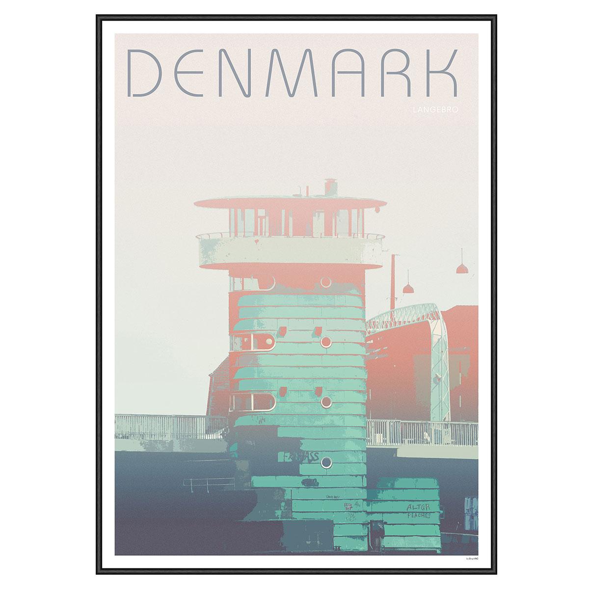 Image of   Langebro plakat i ramme - GraphINC
