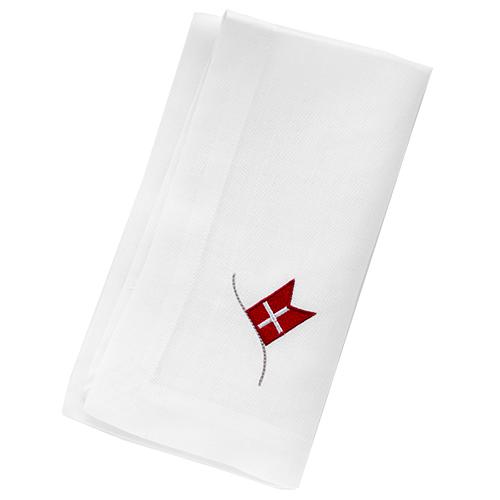 Billede af Langkilde & Søn servietter med flag - 6 stk.