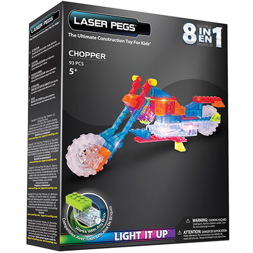 Image of   Laser Pegs byggesæt - Motorcykel 8-i-1