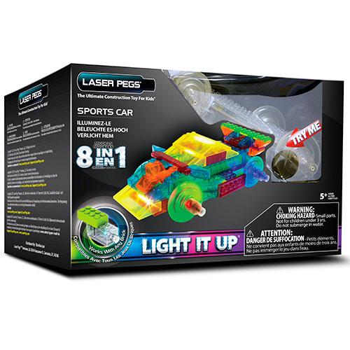 Image of   Laser Pegs byggesæt - Sportsvogn 8-i-1