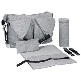 Lässig pusletaske - Neckline Bag - Grå