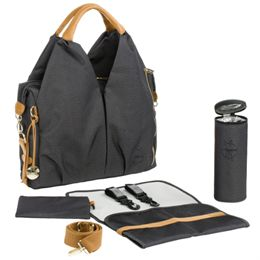 Lässig pusletaske - Neckline Bag - Sort denim