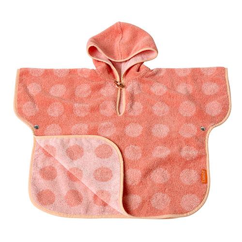 Image of   Leander babyhåndklæde - Matty Poncho - Koral