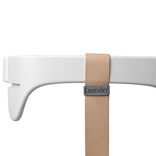 Image of   Leander bøjle med læderstrop - Hvid