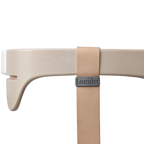 Image of   Leander bøjle med læderstrop - Whitewash