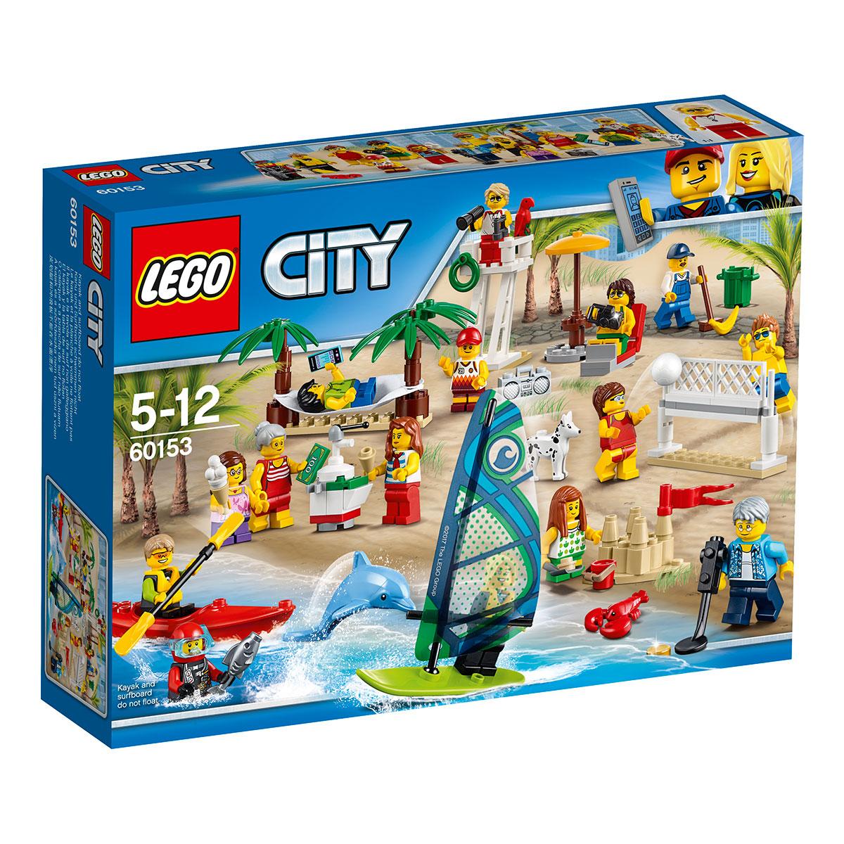 LEGO City Figursæt sjov ved stranden