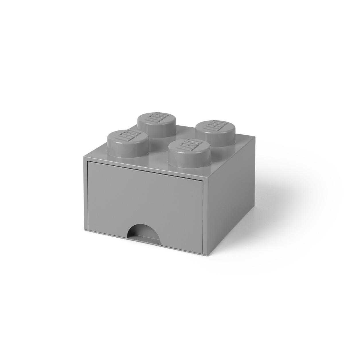LEGO opbevaringskasse med 1 skuffe - Grå