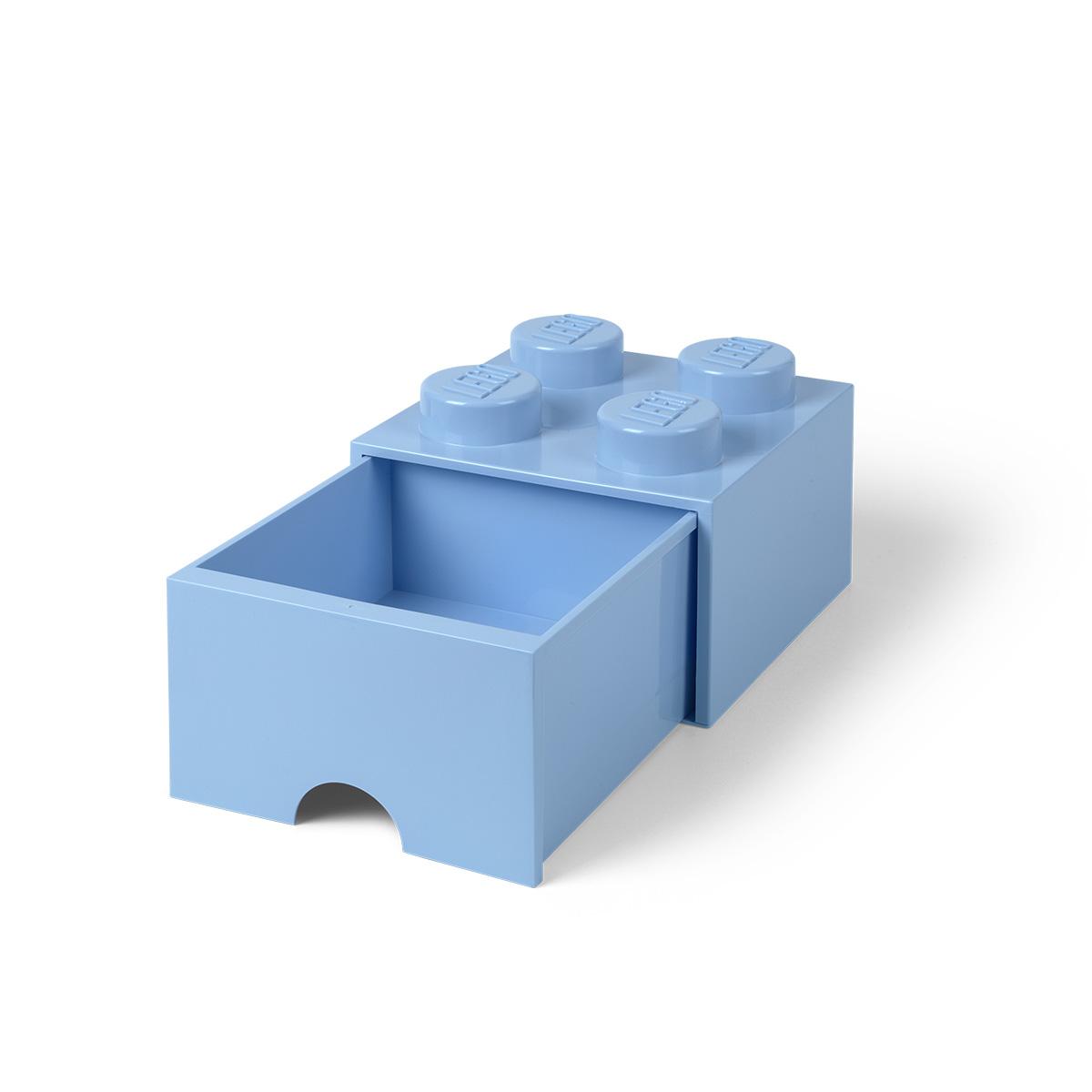 LEGO opbevaringskasse med 1 skuffe - Lyseblå