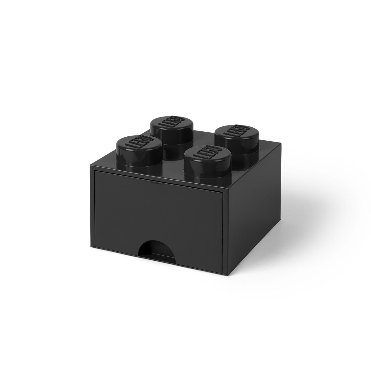 LEGO opbevaringskasse med 1 skuffe - Sort