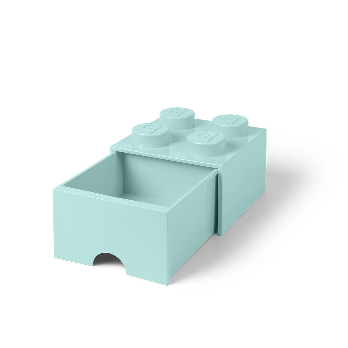 LEGO opbevaringskasse med 1 skuffe - Turkis