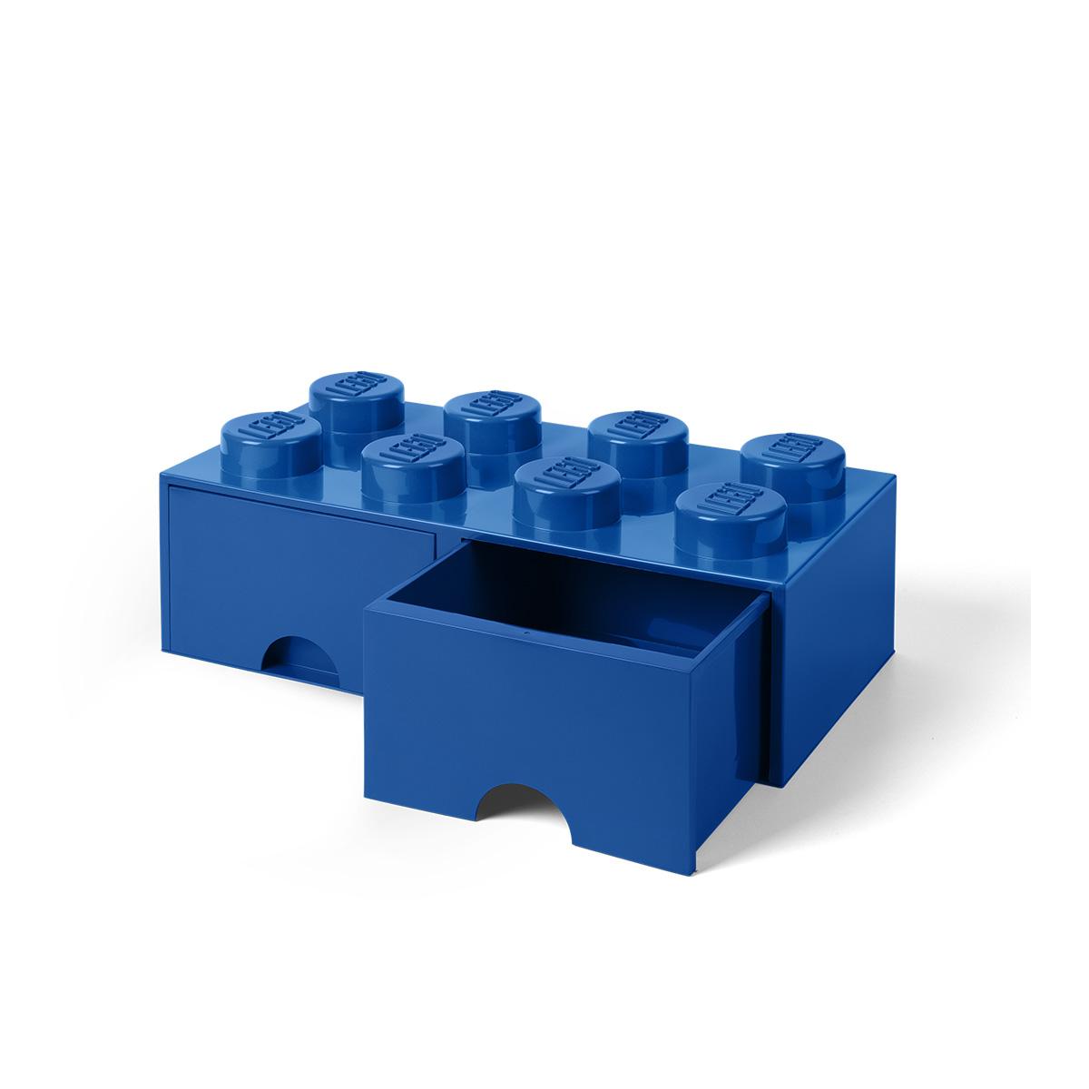 LEGO opbevaringskasse med 2 skuffer - Blå