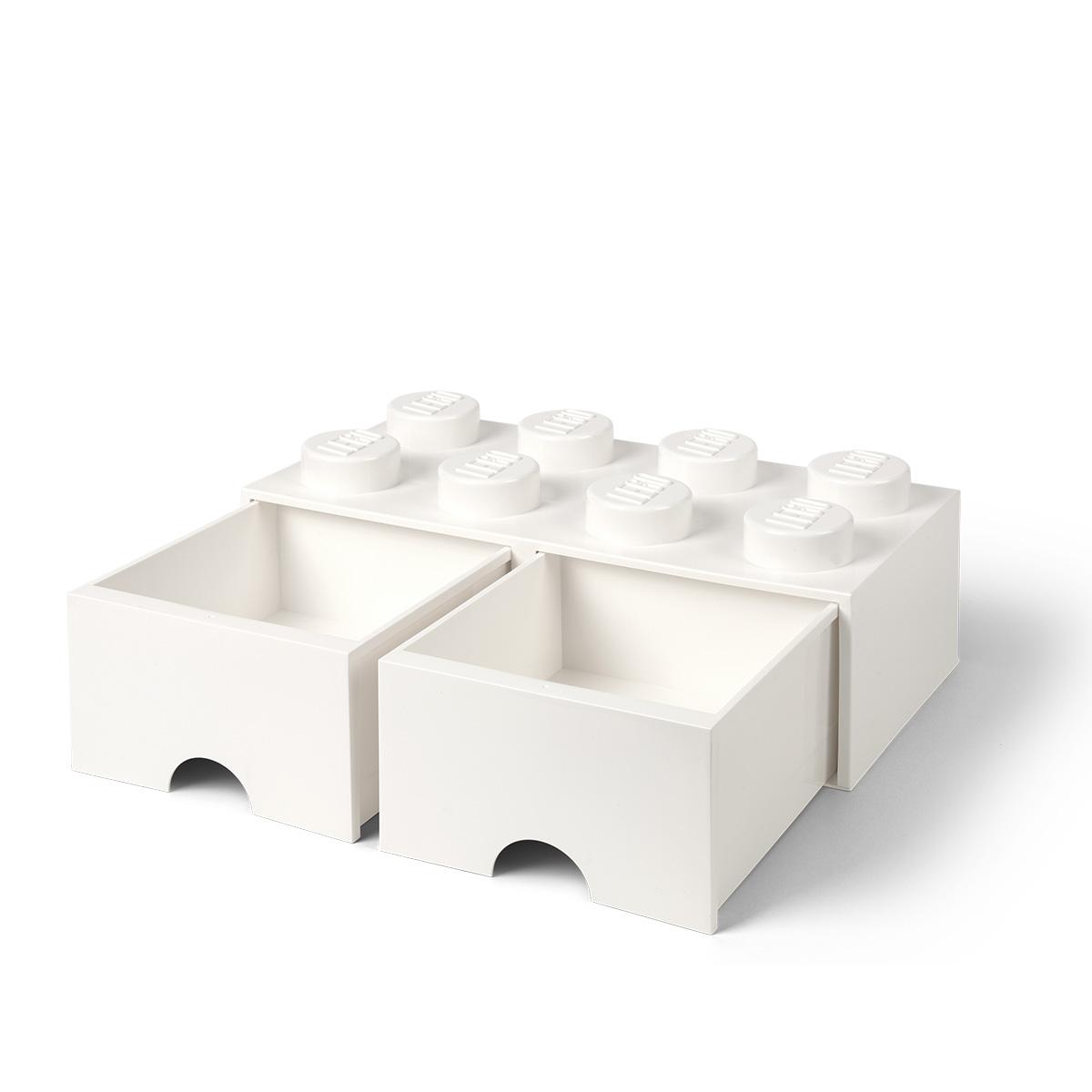 LEGO opbevaringskasse med 2 skuffer - Hvid