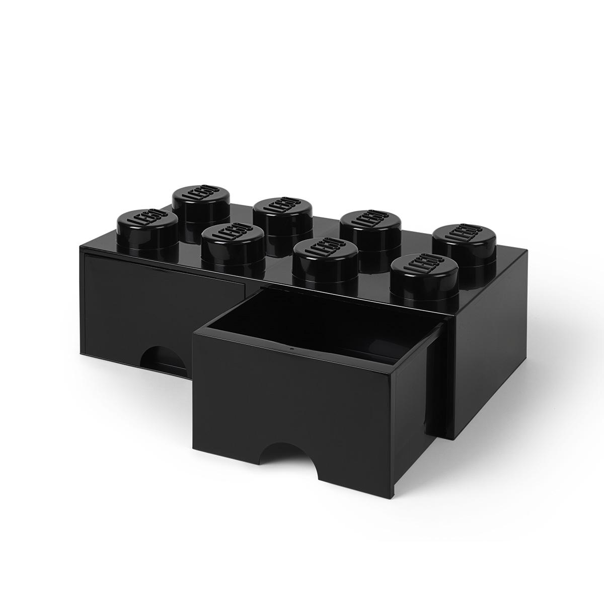 LEGO opbevaringskasse med 2 skuffer - Sort