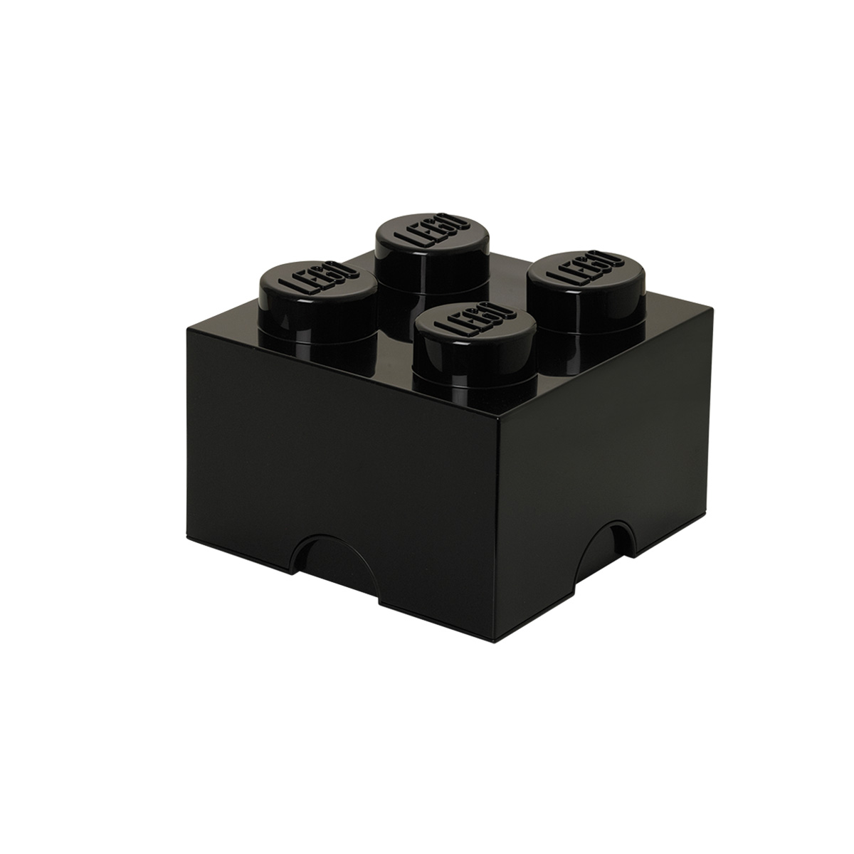 LEGO opbevaringskasse med 4 knopper - Sort