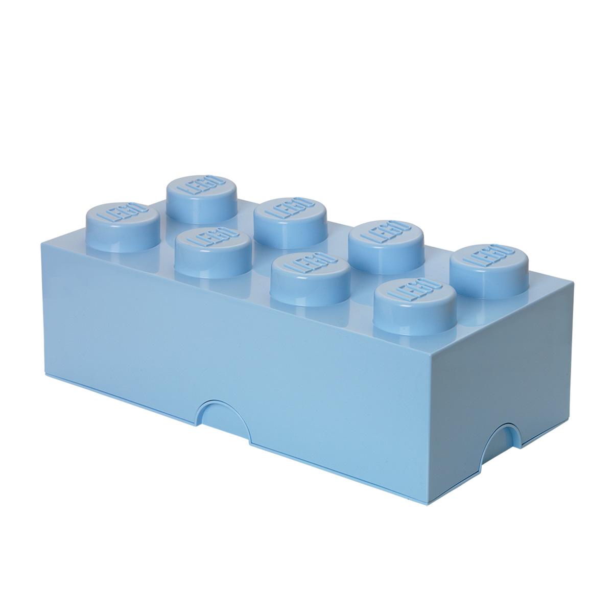 LEGO opbevaringskasse med 8 knopper - Lyseblå