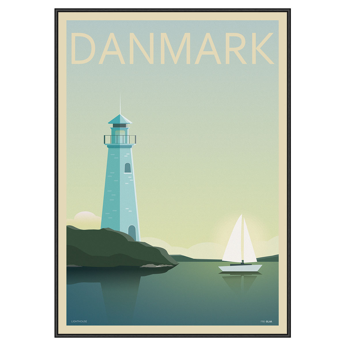 Image of   Lighthouse plakat i ramme - Frk. Blaa