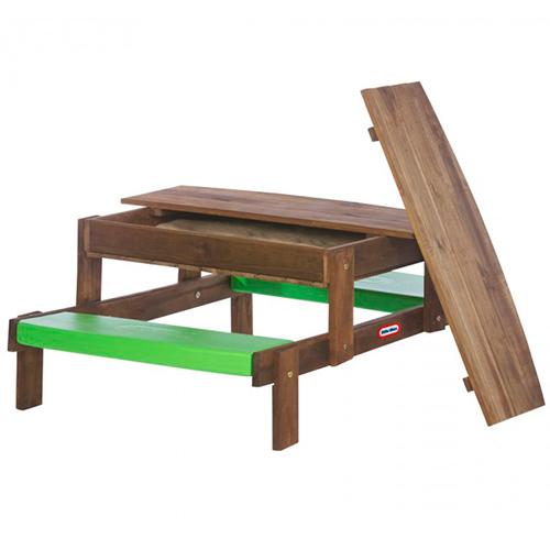 Image of   Little Tikes 2 i 1 picnic bord og sandkasse