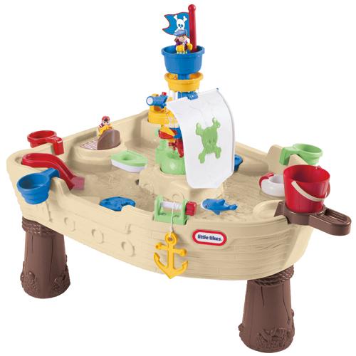 Image of   Little Tikes piratskib legebord til vand og sand