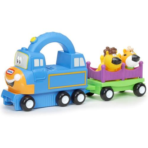 Image of   Little Tikes tog med vogn og dyr