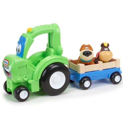 Image of   Little Tikes traktor med vogn og dyr