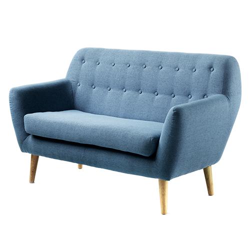 Image of   Living&more 2 pers. sofa - Vigga - Blå