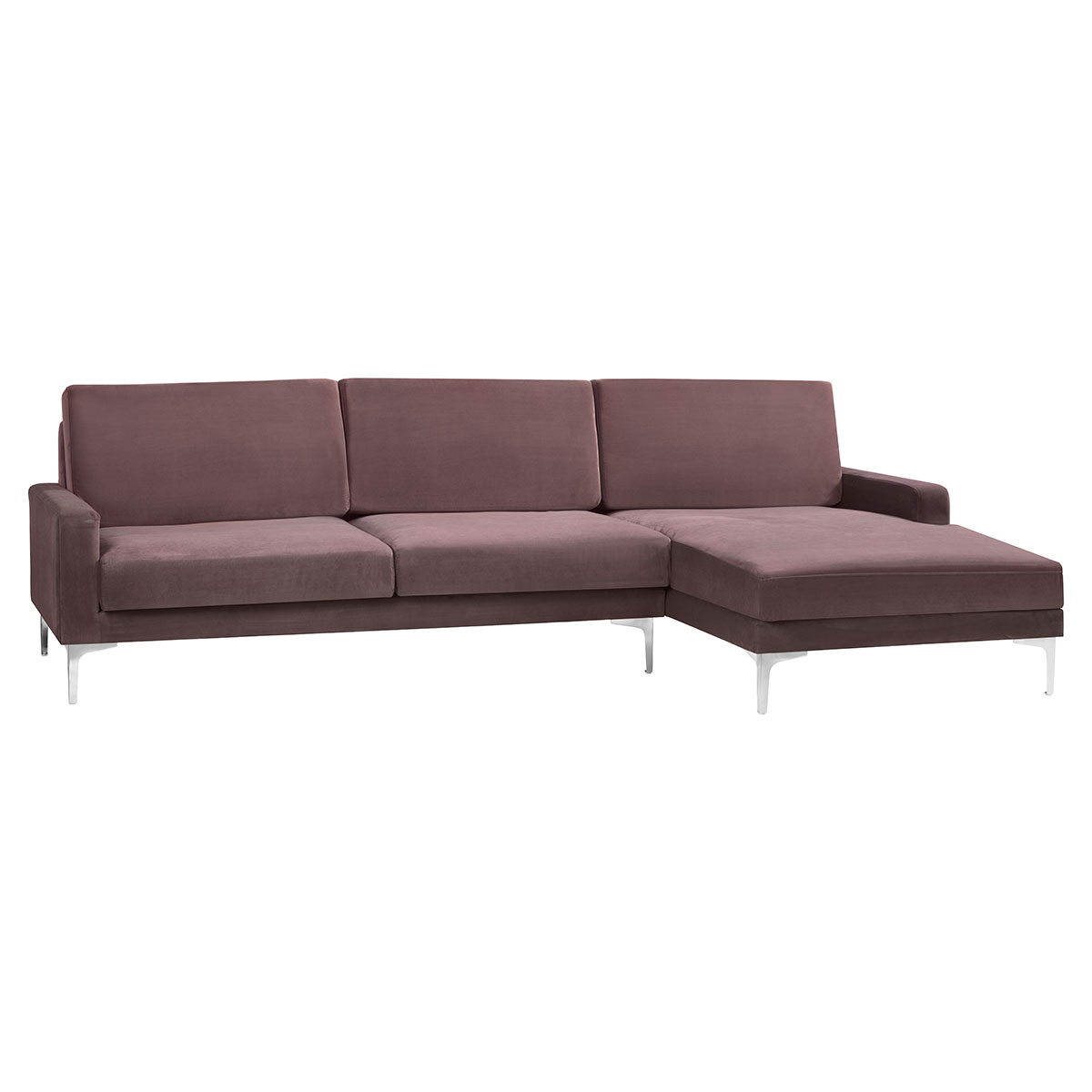Living&more 3 pers. sofa med chaiselong - Viktoria - Nude