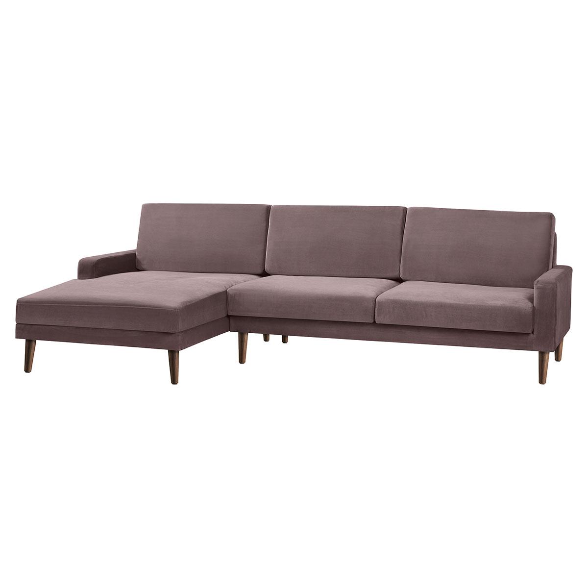 Living&more 3 pers. sofa med chaiselong - Viktoria - Rosa