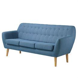 Image of   Living&more 3 pers. sofa - Vigga - Blå