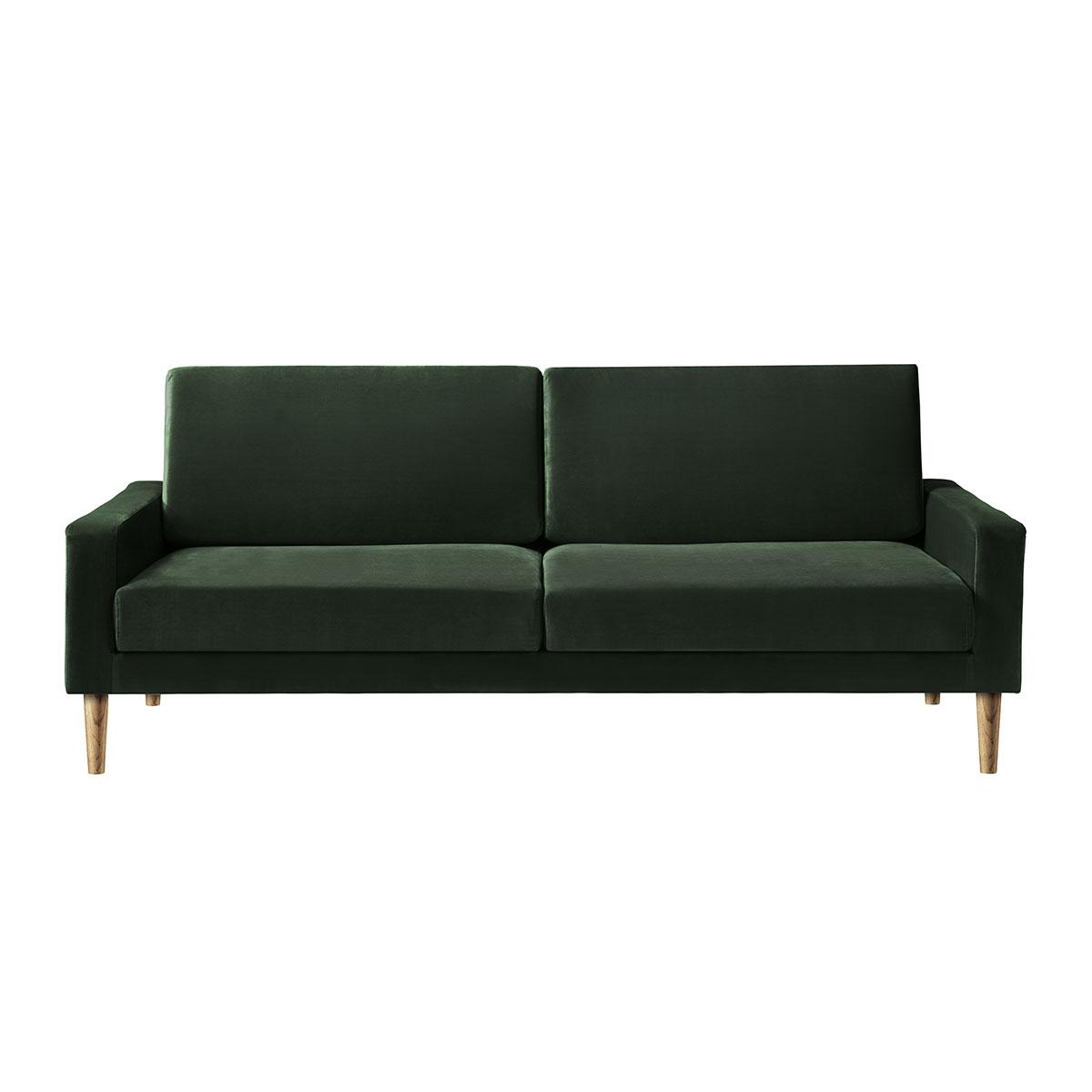 Living&more 3 pers. sofa - Viktoria - Mørkegrøn