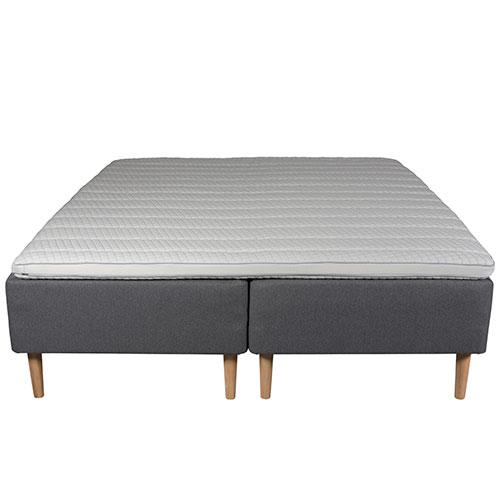 Living&more boxmadras - De Lux Classic - 180 x 200 cm - Grå