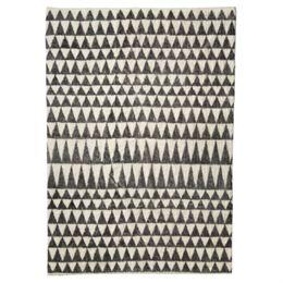 Image of   Living&more gulvtæppe med grafisk mønster - Haora - Sort/natur
