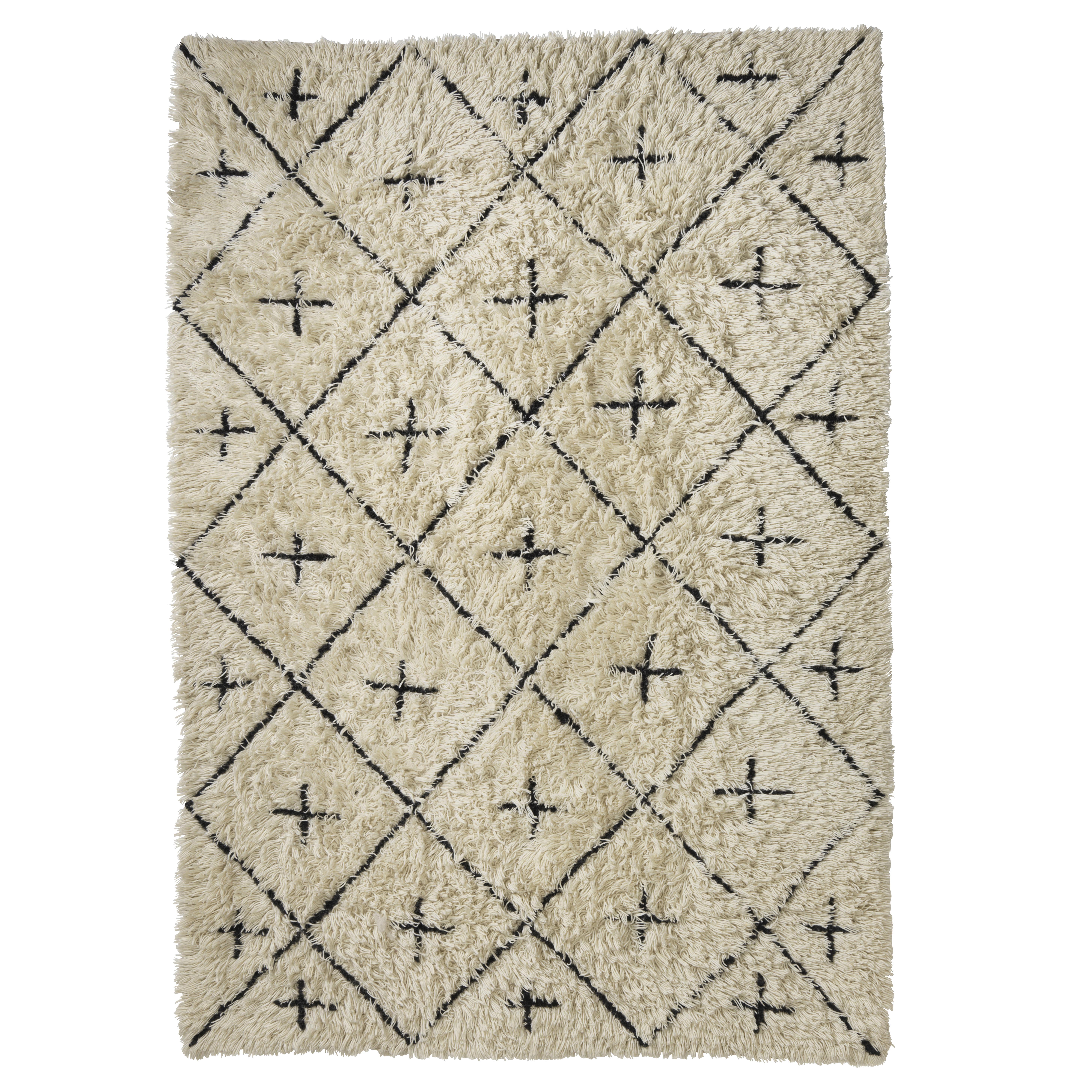 Image of   Living&more gulvtæppe med grafisk mønster - Koltaka - Natur/sort