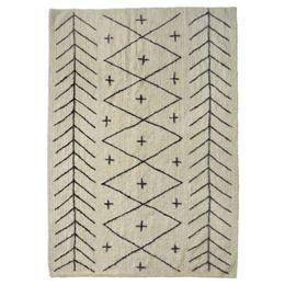 Image of   Living&more gulvtæppe med grafisk mønster - Korba - Natur/sort