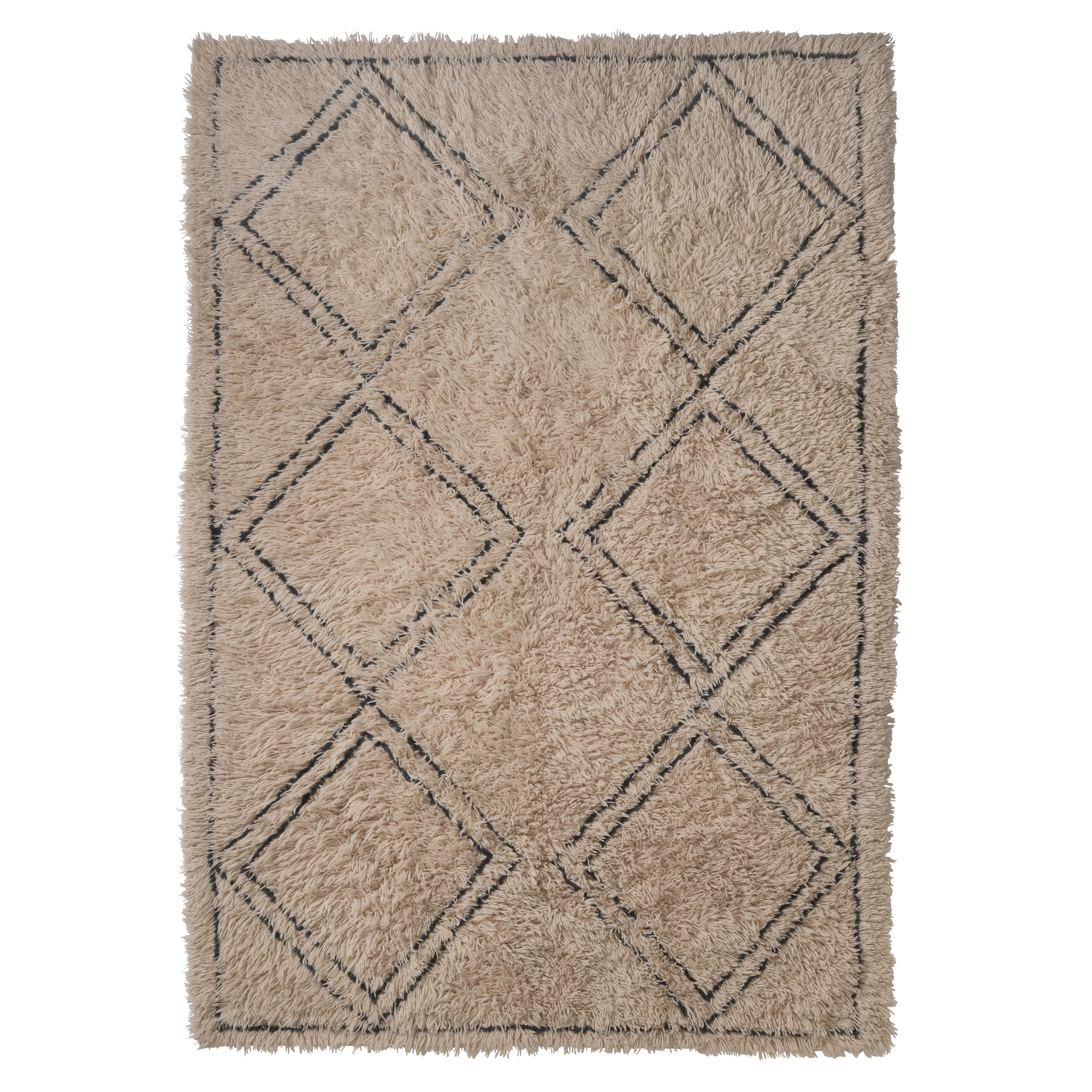 Image of   Living&more gulvtæppe med grafisk mønster - Nagpur - Natur/sort