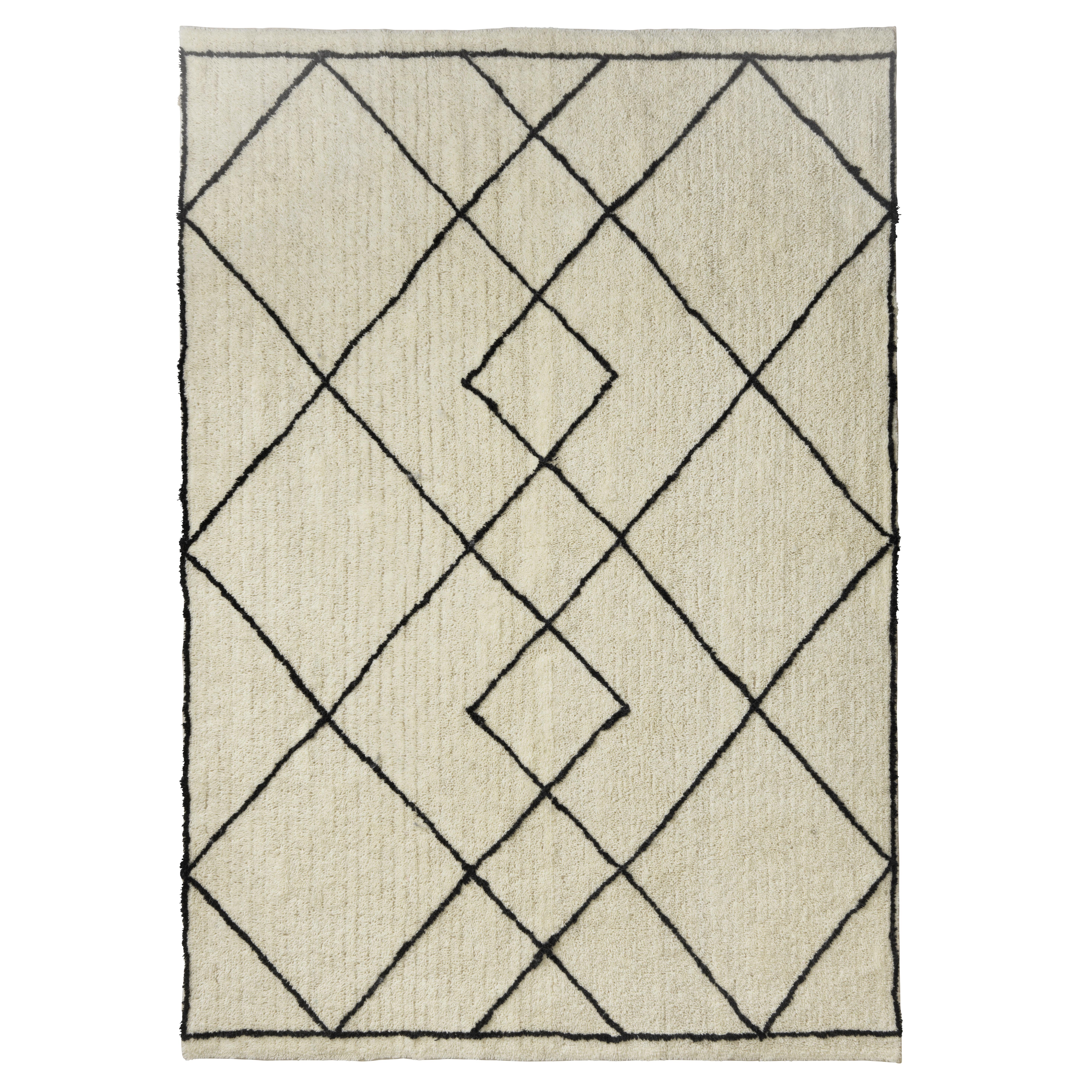 Image of   Living&more gulvtæppe med grafisk mønster - Nashik - Sort/natur